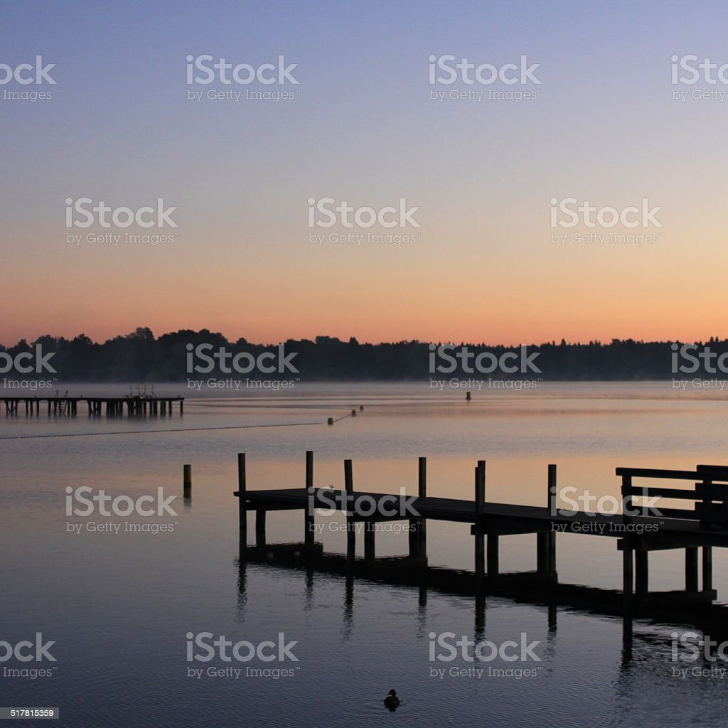Sunrise Pier royalty-free stock photo