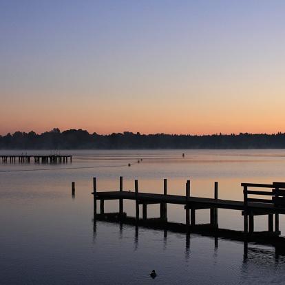 Sunrise Pier Stockfoto und mehr Bilder von Anlegestelle