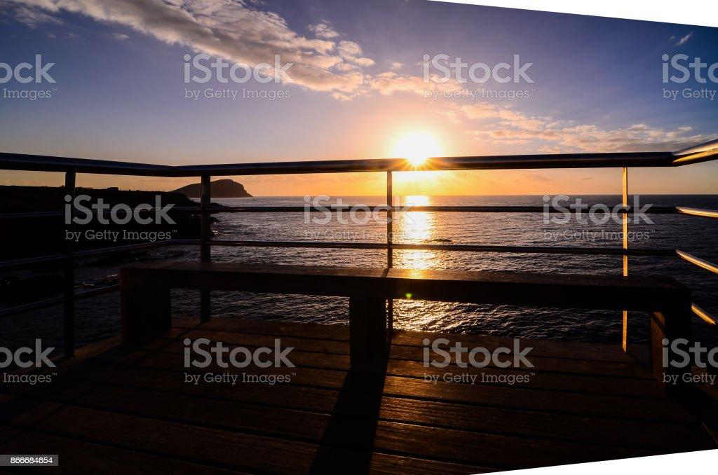 Sunrise Pier stock photo