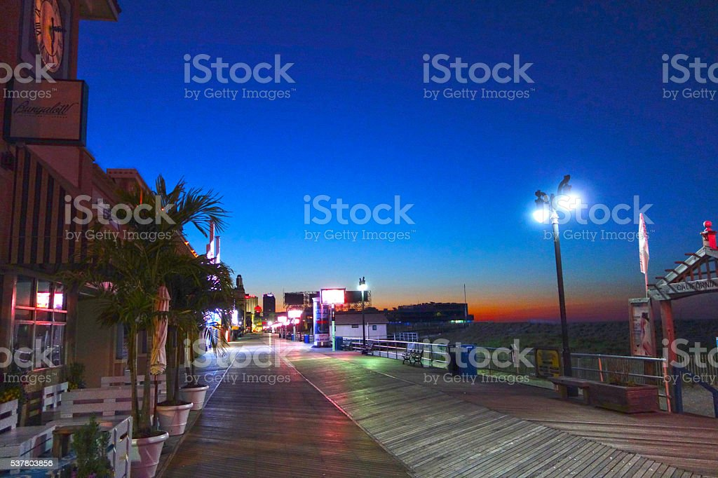 Sunrise Scene, Atlantic City, NJ stock photo