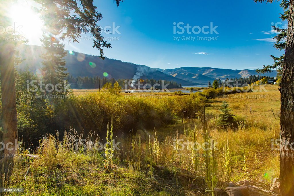 Sunrise scene stock photo
