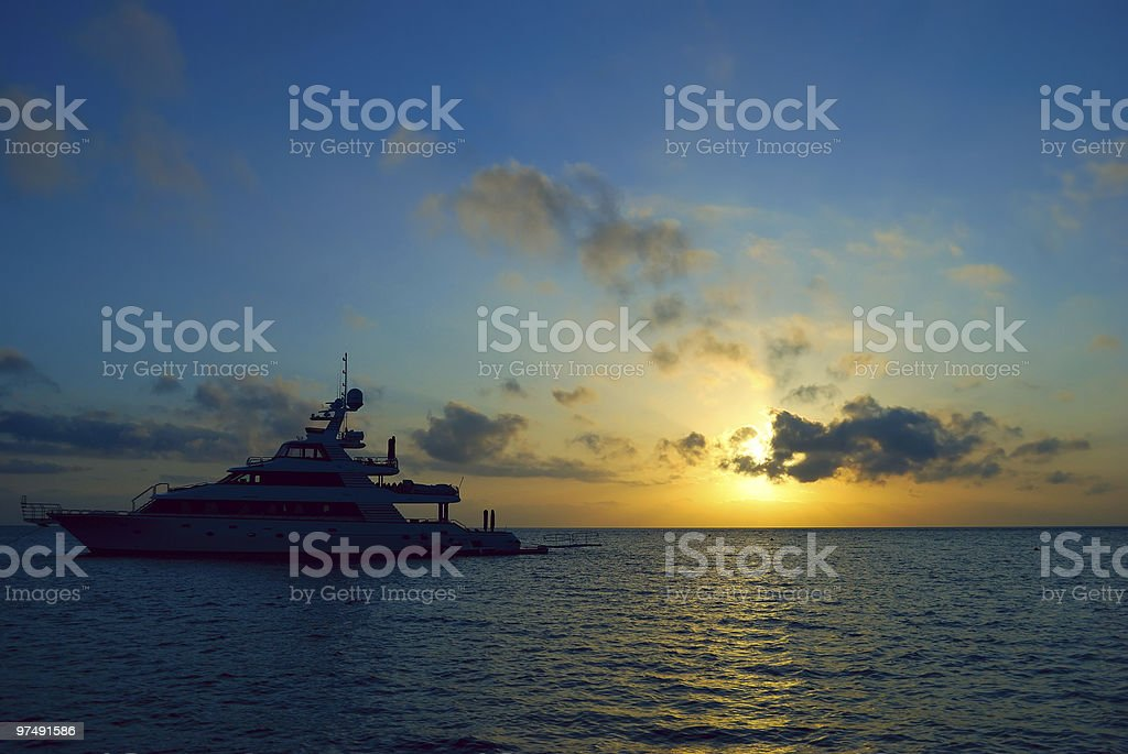 sunrise ship royalty-free stock photo