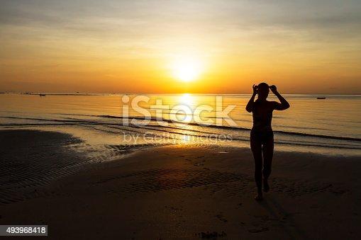 494377786istockphoto Sunrise show model silhouette 493968418