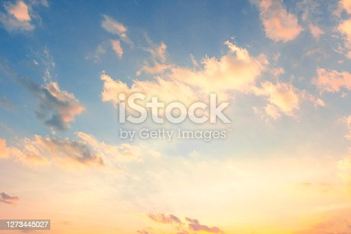 sunrise sky and cloud at morning