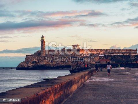 sunrise skyline of Havana, Cuba.
