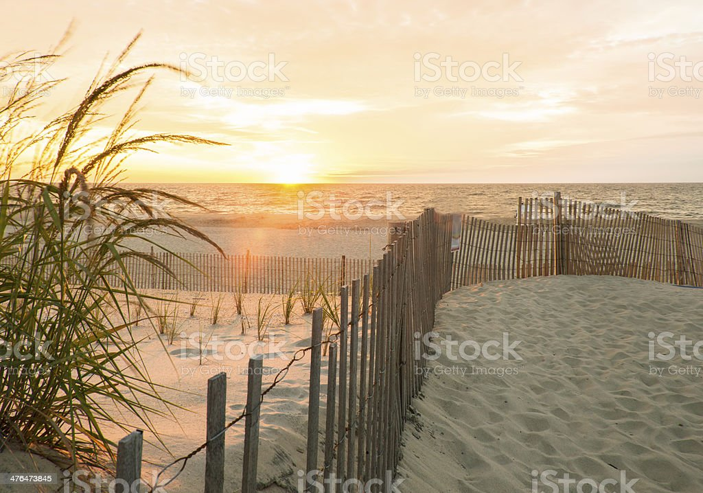 Sunrise South Bethany Beach Delaware stock photo