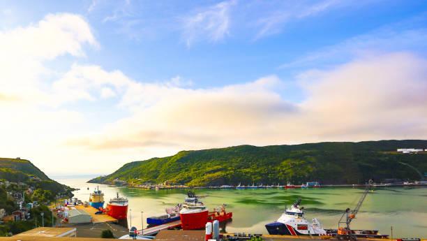 Sunrise, St. John's Harbor, Newfoundland and Labrador, Canada stock photo