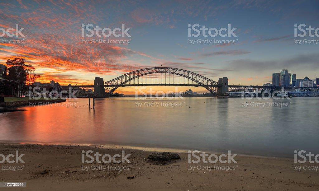 Sunrise Sydney Australia stock photo
