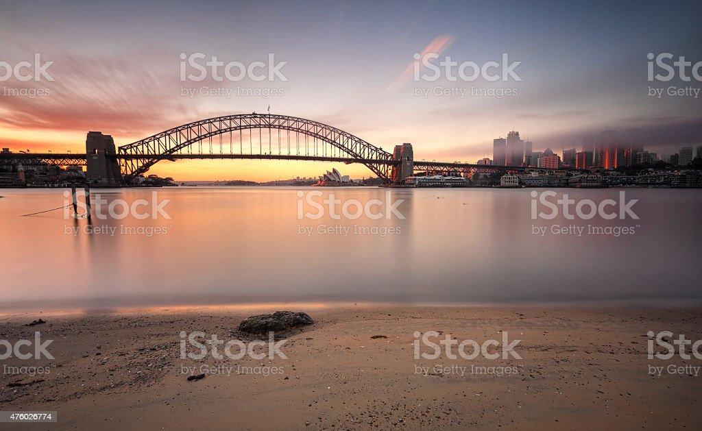 Sunrise Sydney cityscape Australia stock photo