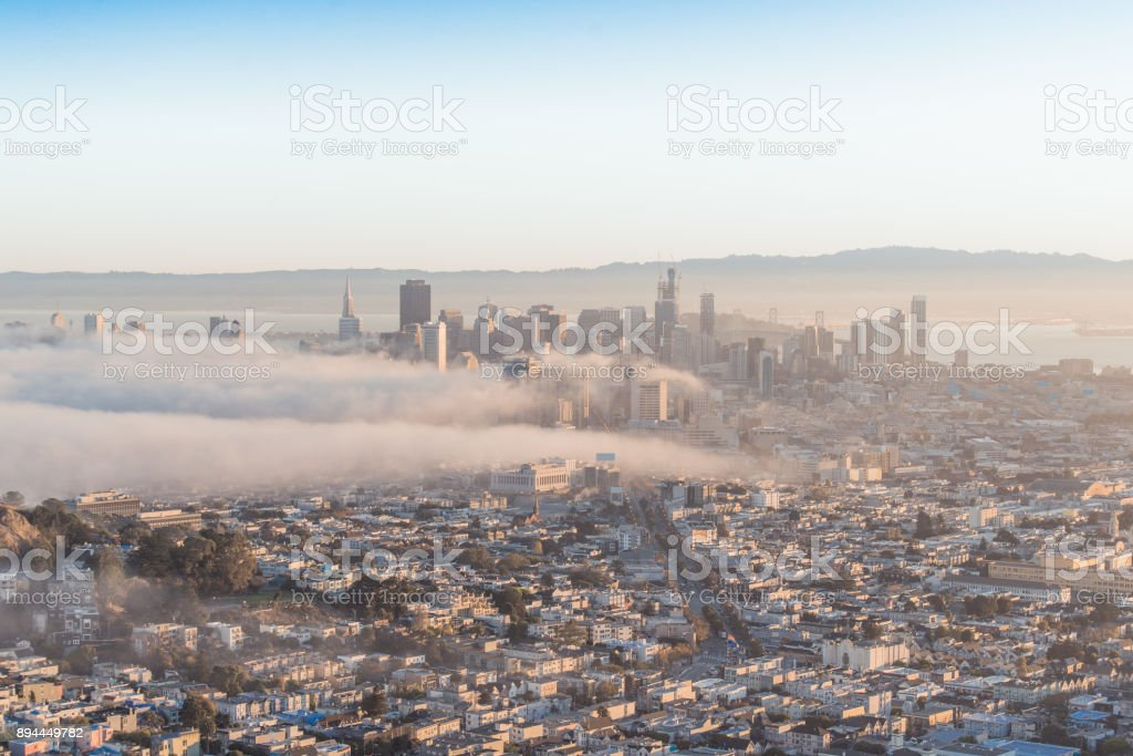 Sunrise times in San Francisco stock photo