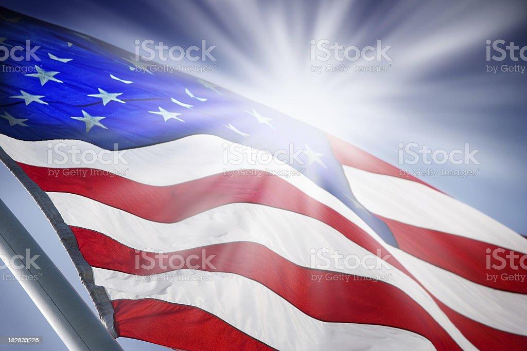 Sunrise USA royalty-free stock photo