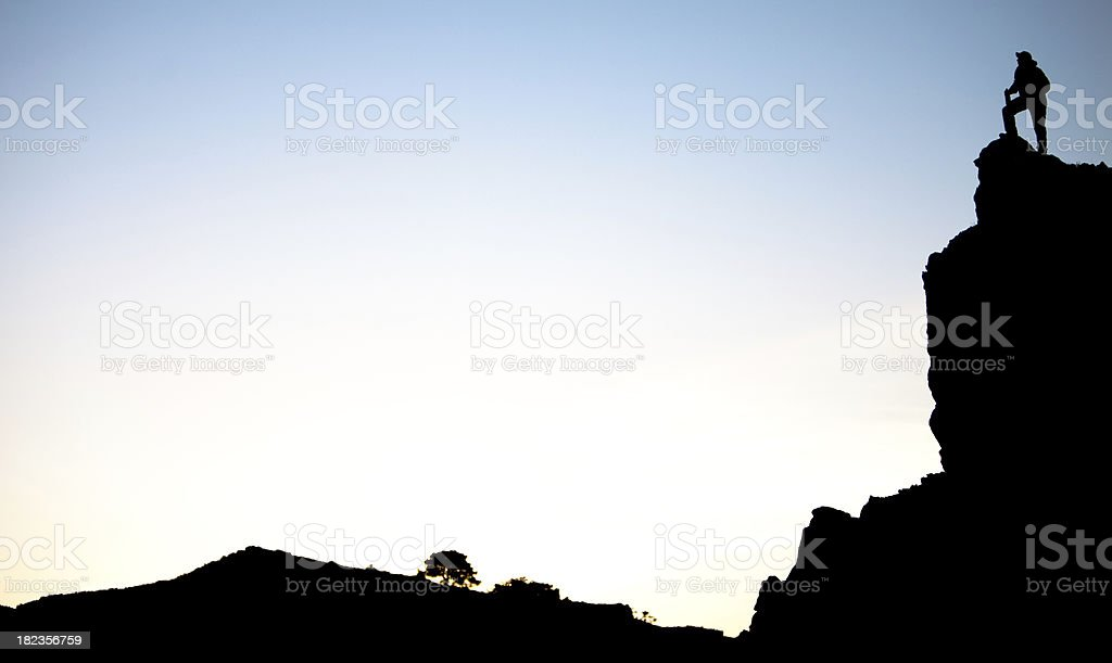 Sunrise view from a cliff royalty-free stock photo