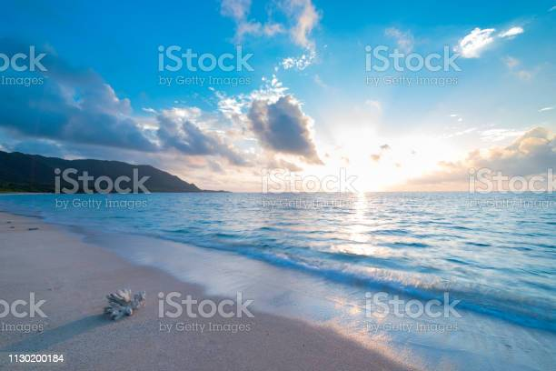Photo of A Sunrise View of the Pacific Ocean
