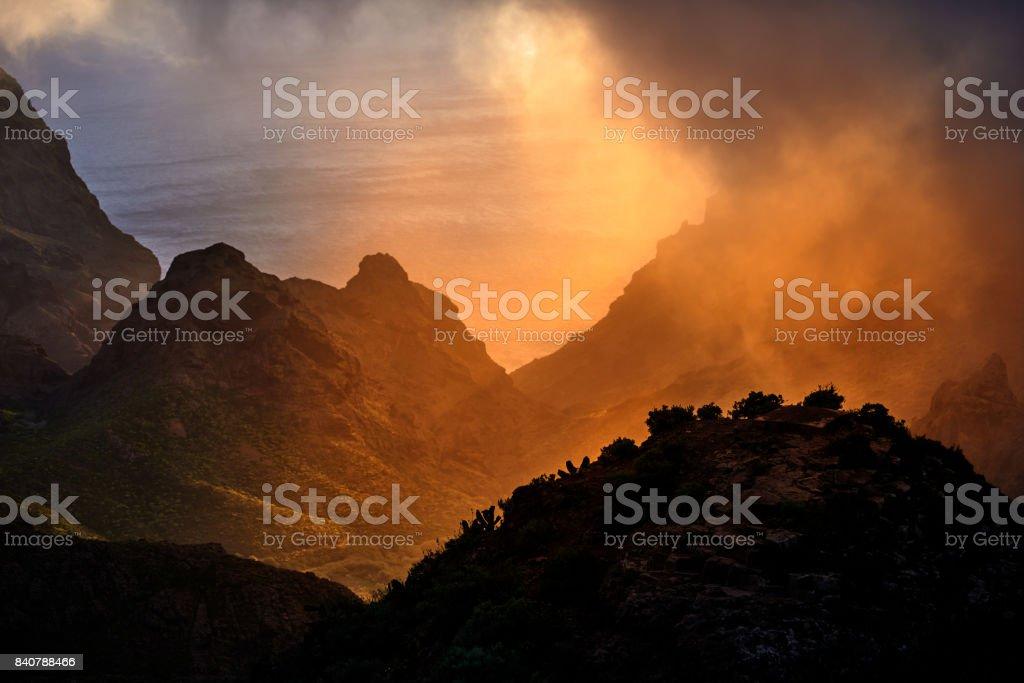 sunrise view stock photo