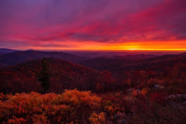 Sunrise Virginia stock photo