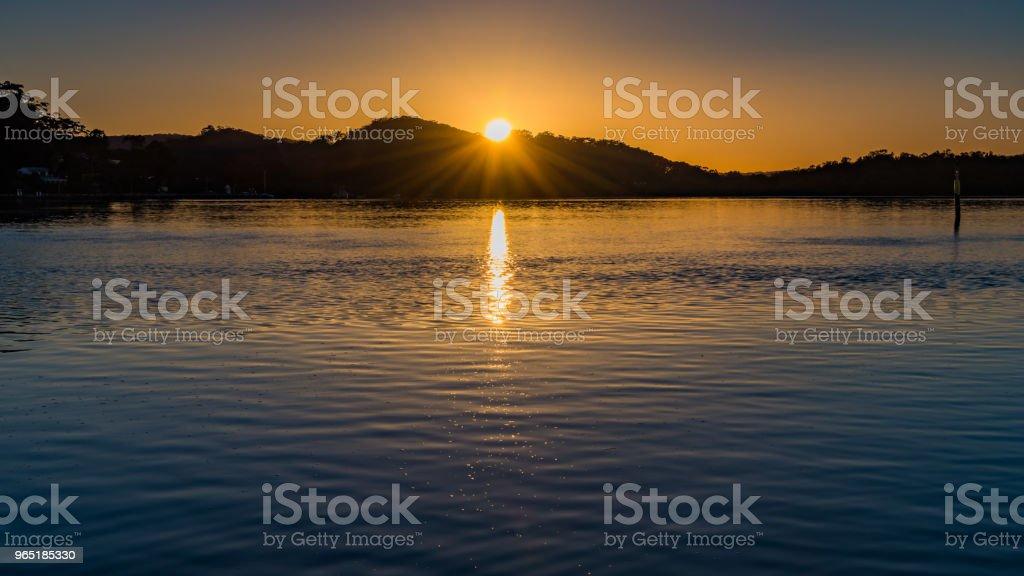Sunrise Waterscape zbiór zdjęć royalty-free