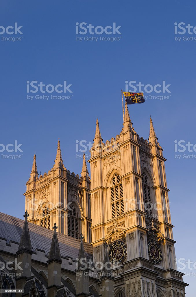 Sunrise Westminster Abbey, London stock photo