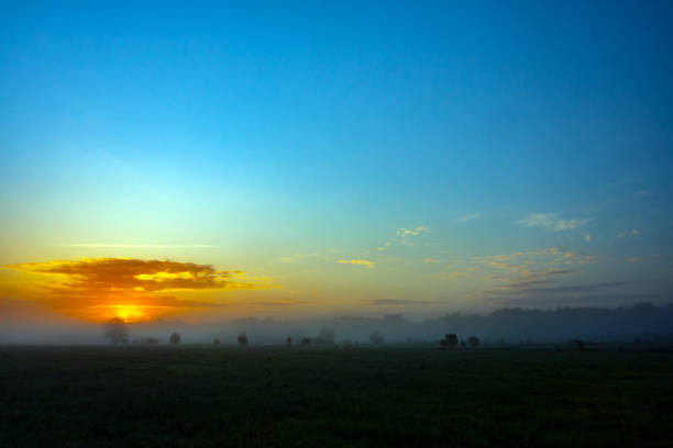 Sunrise with clouds, sunrise in the morning,