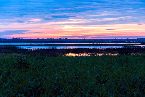 Sunrises over Lake Toho by Kissimmee on a Florida Winter morning