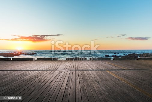 empty wooden plank on foreground,California,USA.