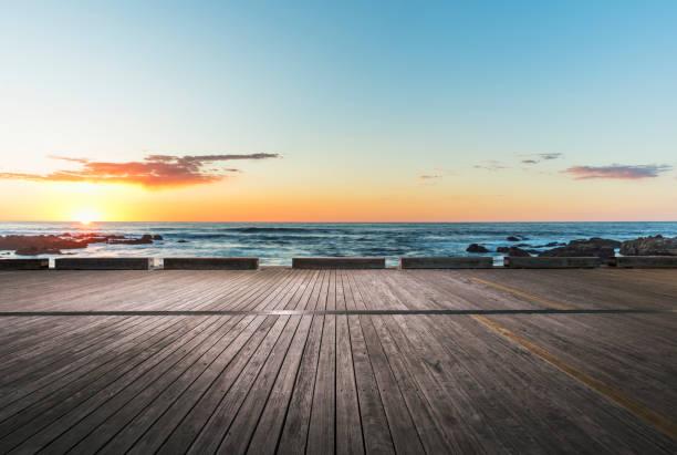 Sonnenaufgang/Sonnenuntergang über Pazifischer Ozean, California – Foto