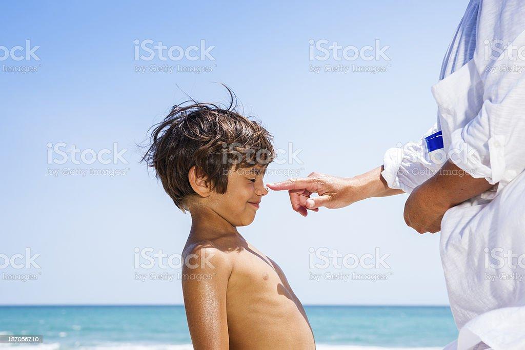 Sunscreen lotion royalty-free stock photo