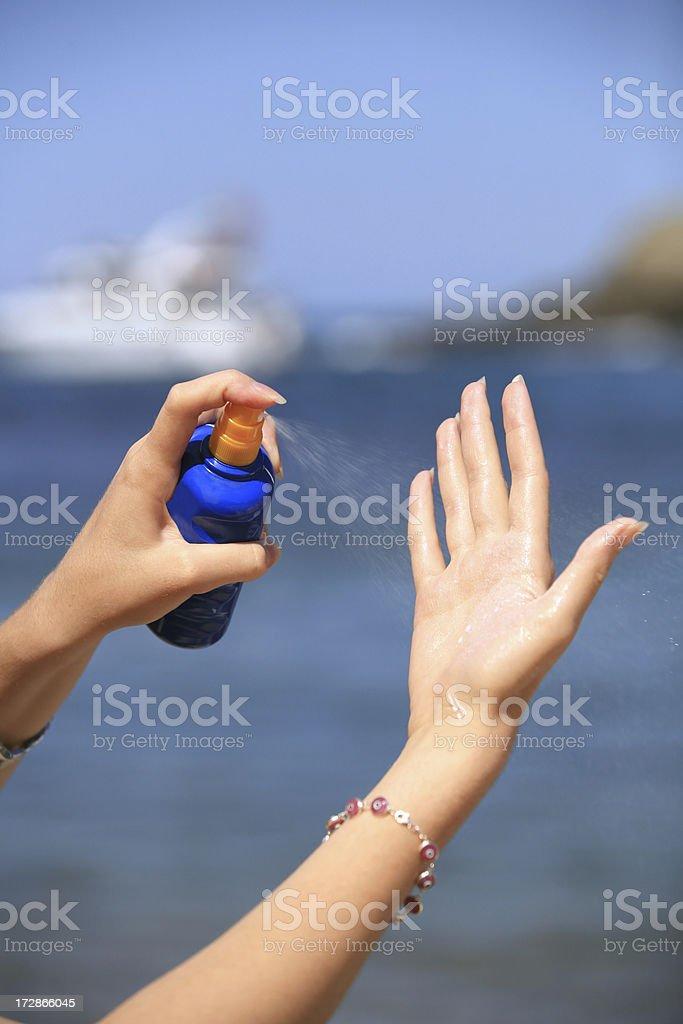 sunscreen royalty-free stock photo