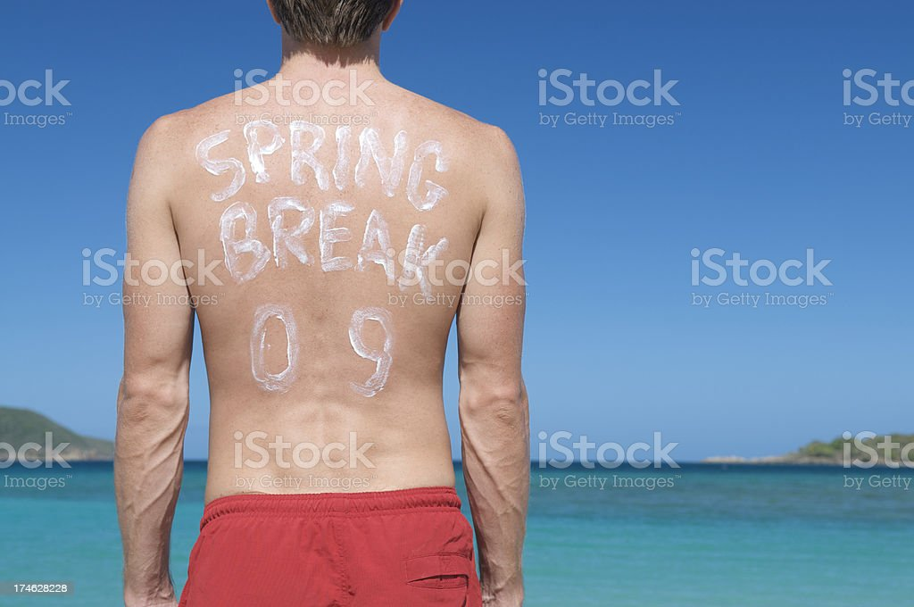 Sunscreen Spring Break 09 royalty-free stock photo