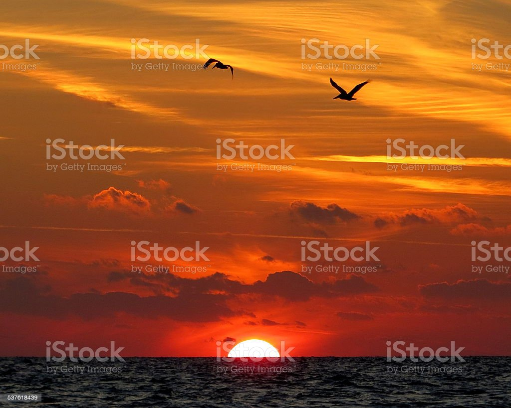 Sunset 001 stock photo