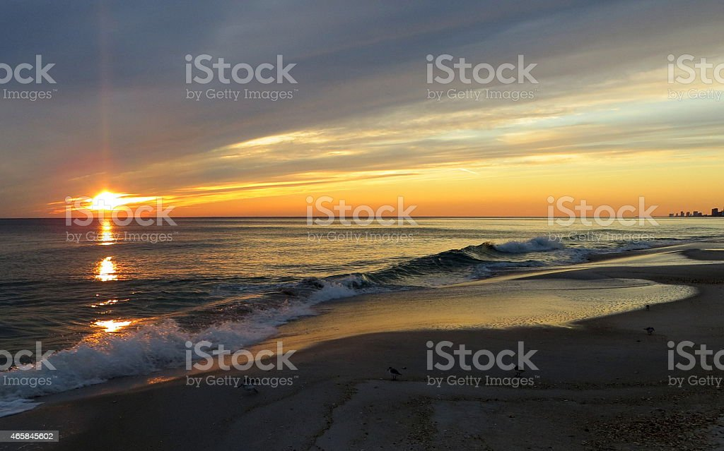 Sunset 01 Feb 27 2015 stock photo