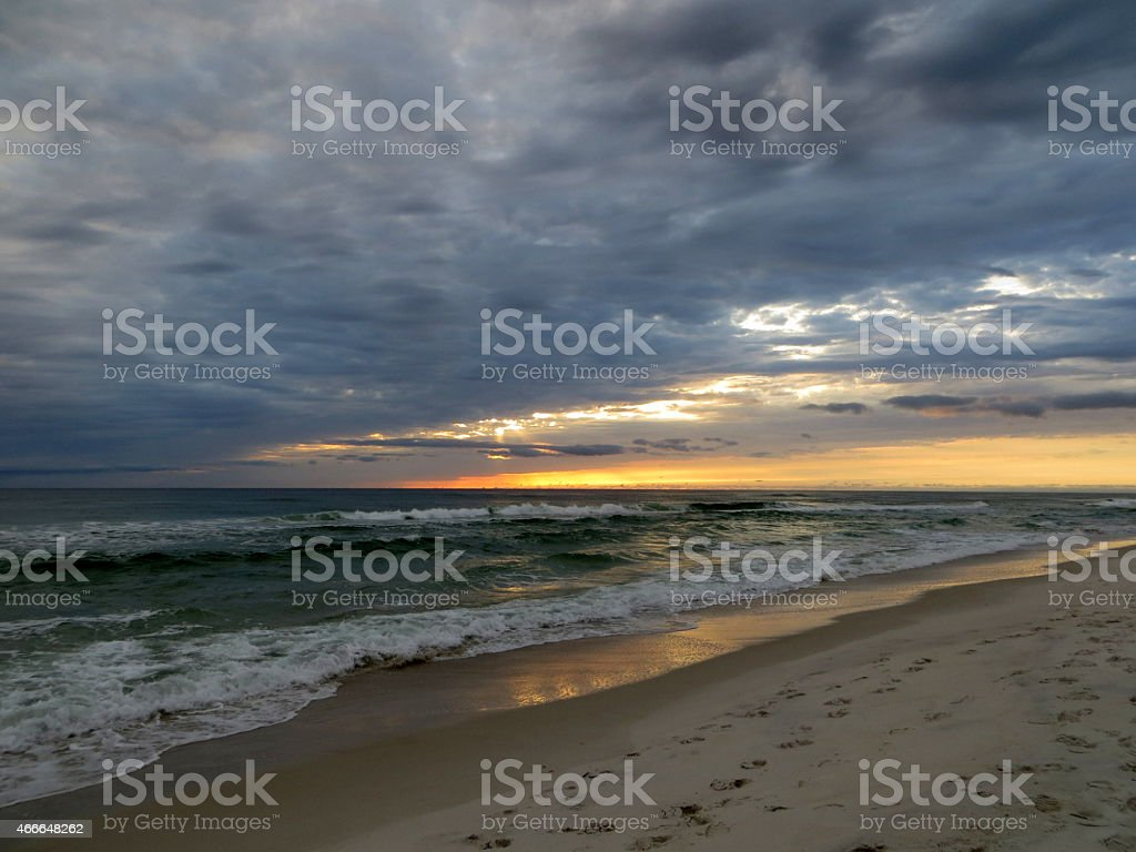Sunset 01 Mar 5 2015 stock photo
