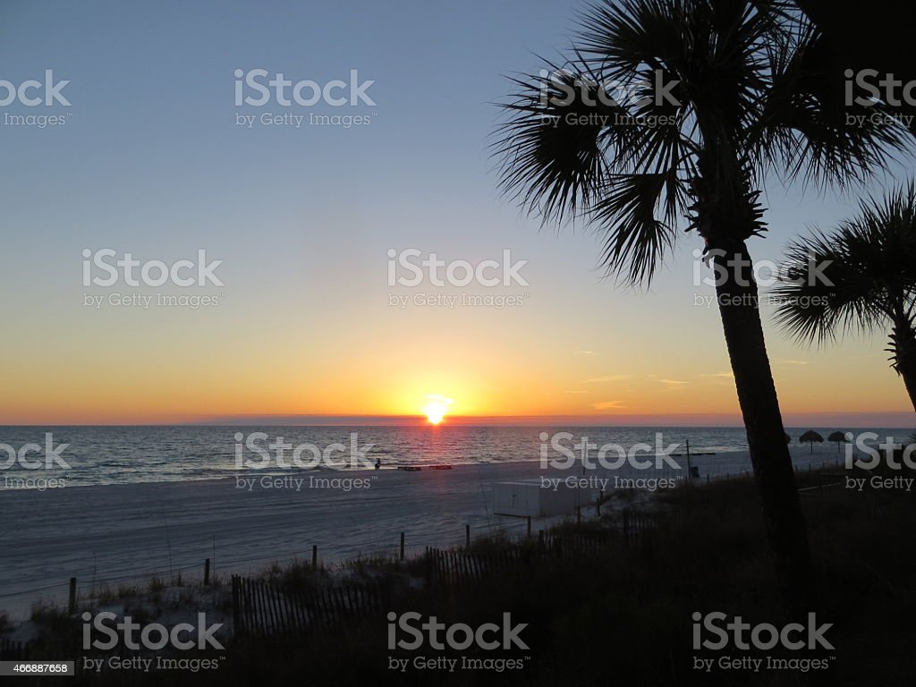 Sunset 01 Mar 7 2015 stock photo