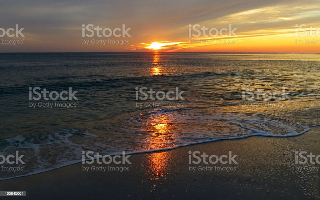 Sunset 02 Feb 27 2015 stock photo
