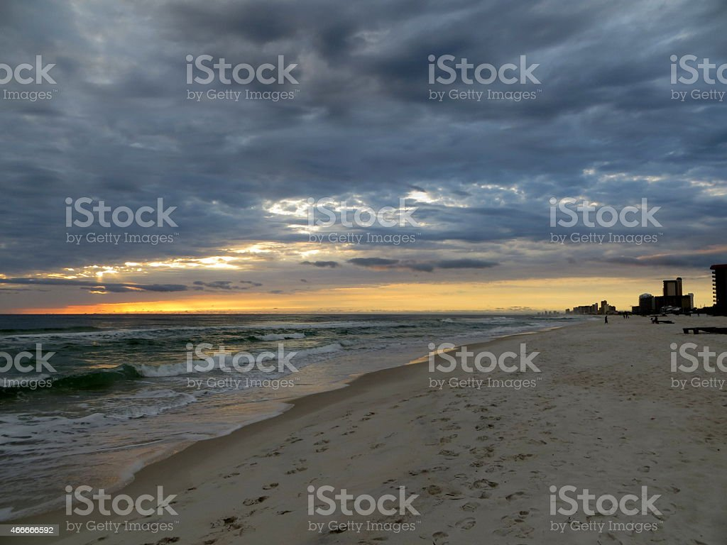 Sunset 02 Mar 5 2015 stock photo