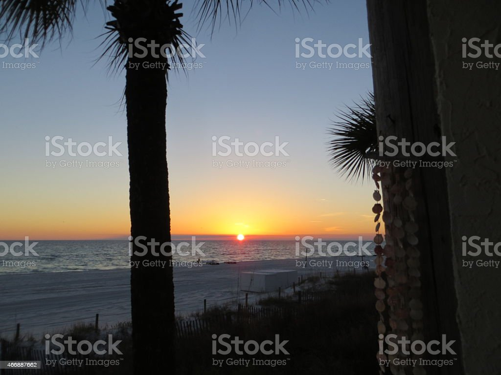Sunset 02 Mar 7 2015 stock photo