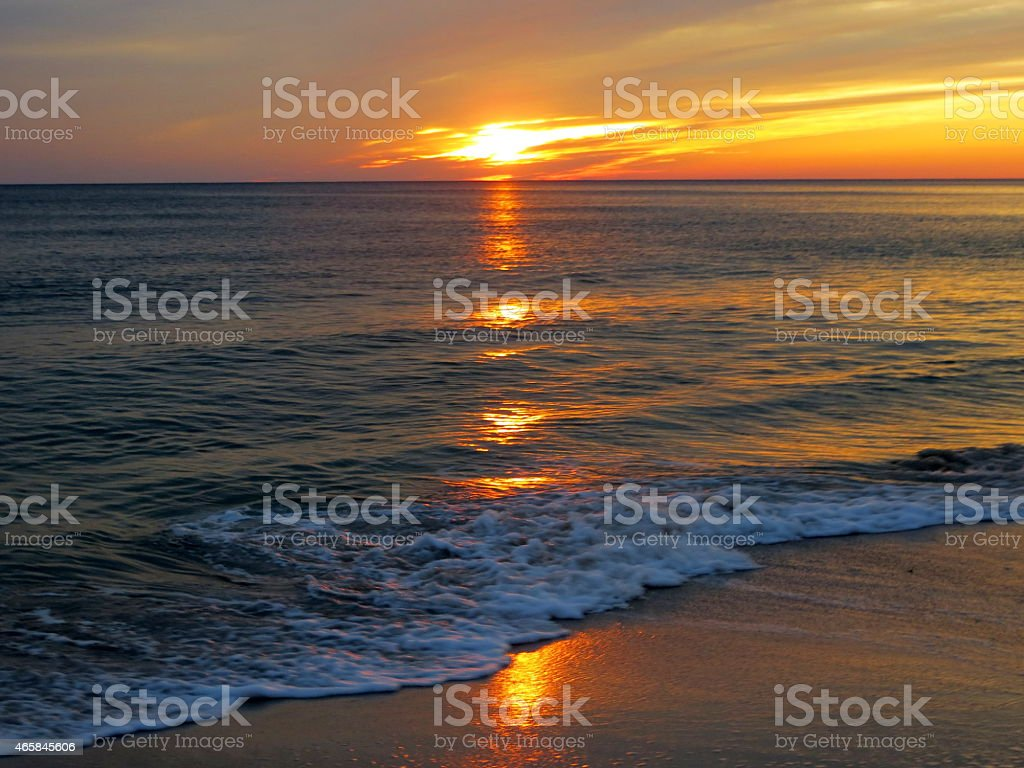 Sunset 03 Feb 27 2015 stock photo