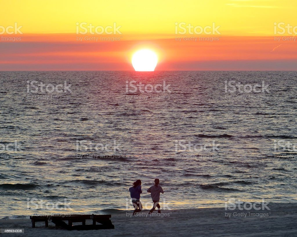 Sunset 04 Mar 7 2015 stock photo
