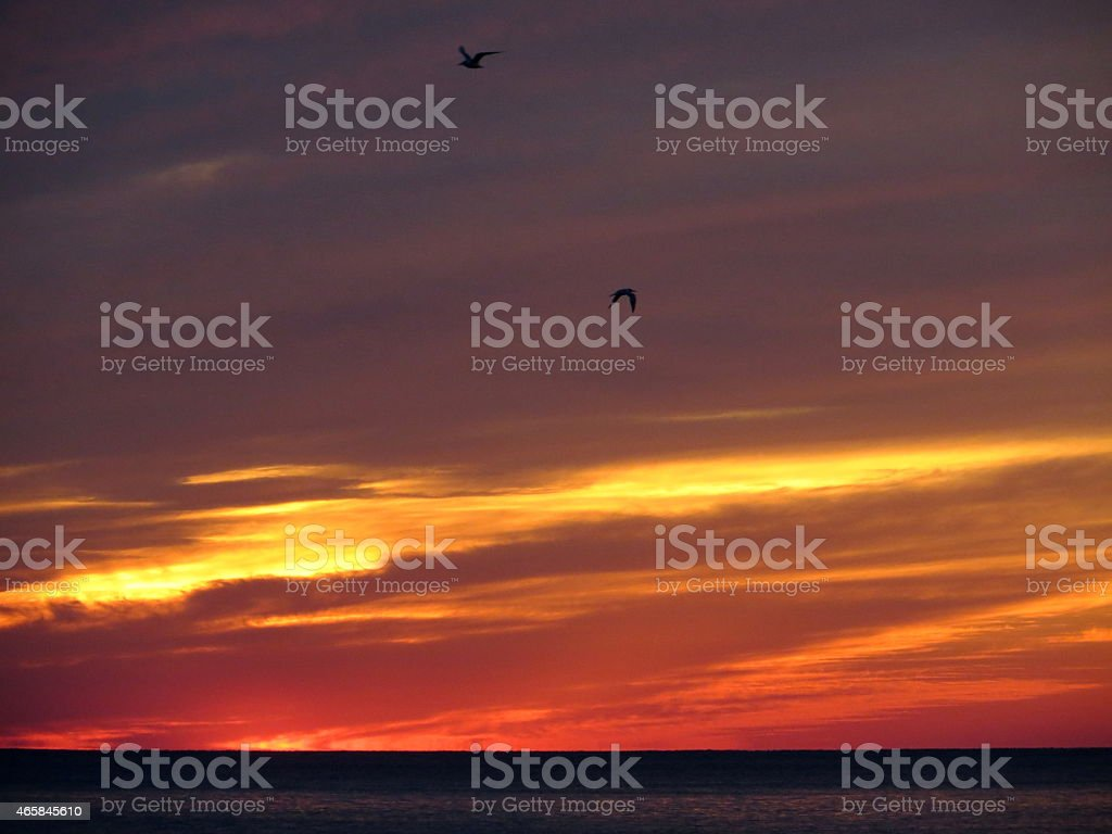 Sunset 05 Feb 27 2015 stock photo