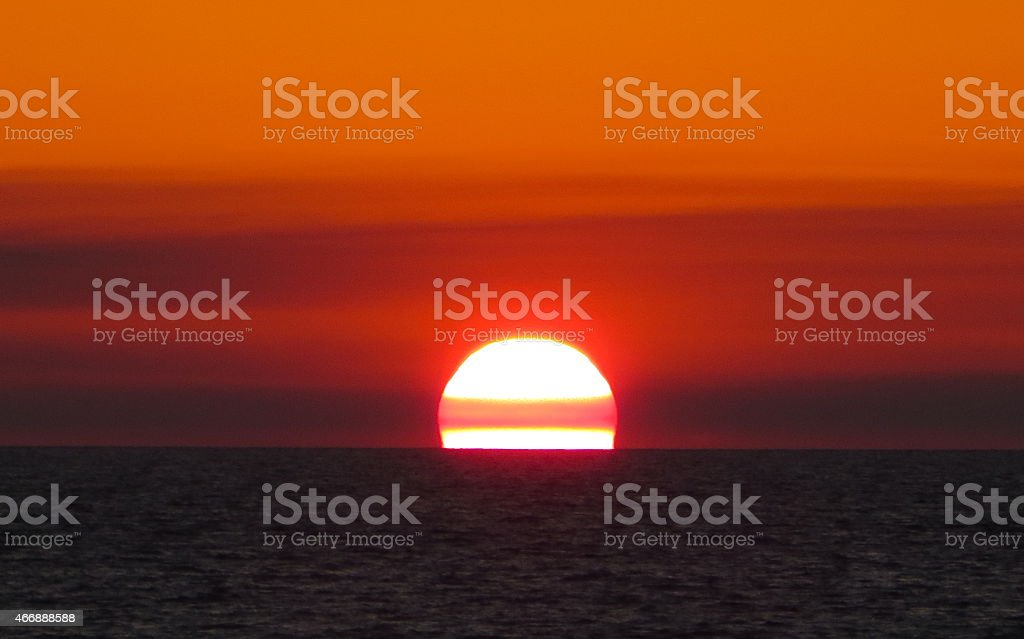 Sunset 05 Mar 7 2015 stock photo