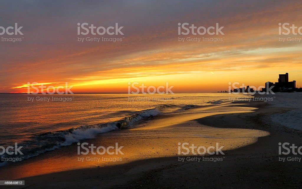 Sunset 06 Feb 27 2015 stock photo