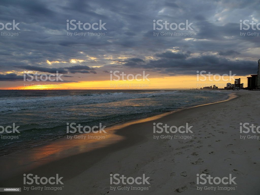 Sunset 06 Mar 5 2015 stock photo