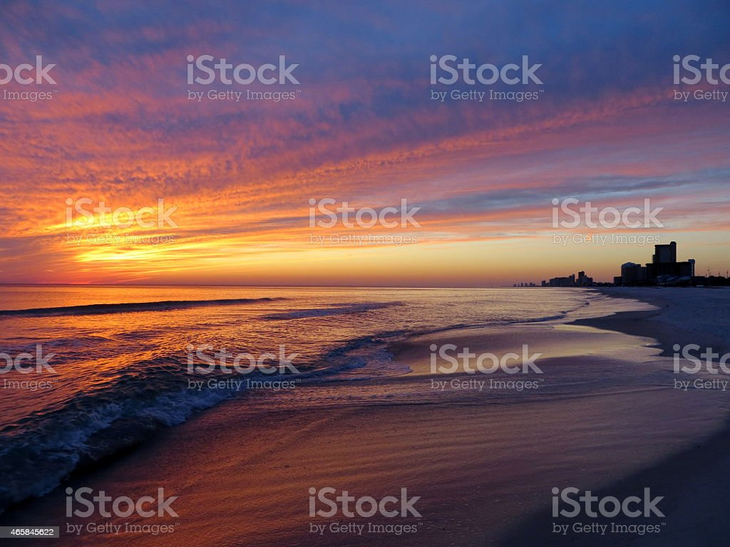 Sunset 07 Feb 27 2015 stock photo