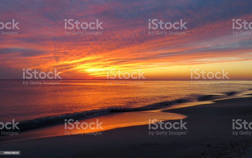 Sunset 08 Feb 27 2015 stock photo