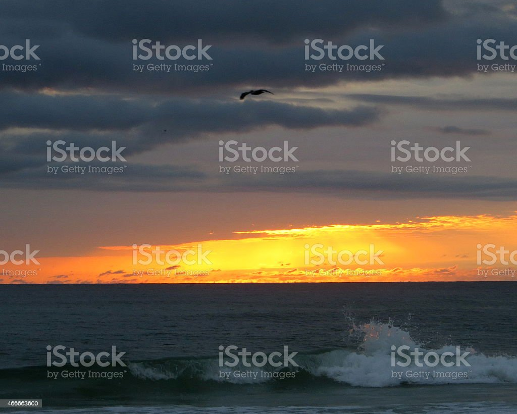 Sunset 08 Mar 5 2015 stock photo