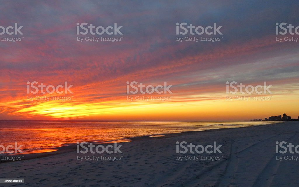 Sunset 10 Feb 27 2015 stock photo