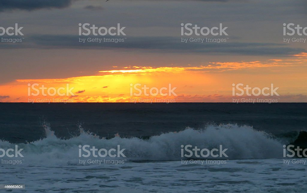 Sunset 10 Mar 5 2015 stock photo