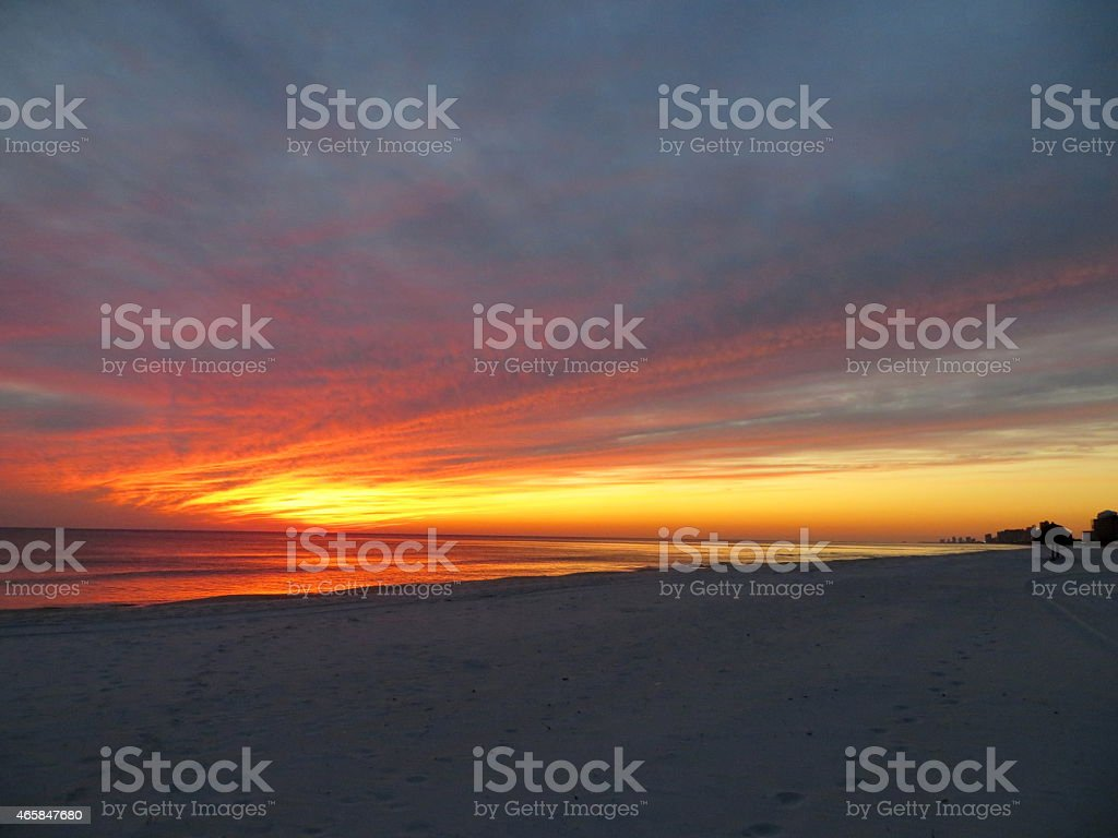 Sunset 11 Feb 27 2015 stock photo