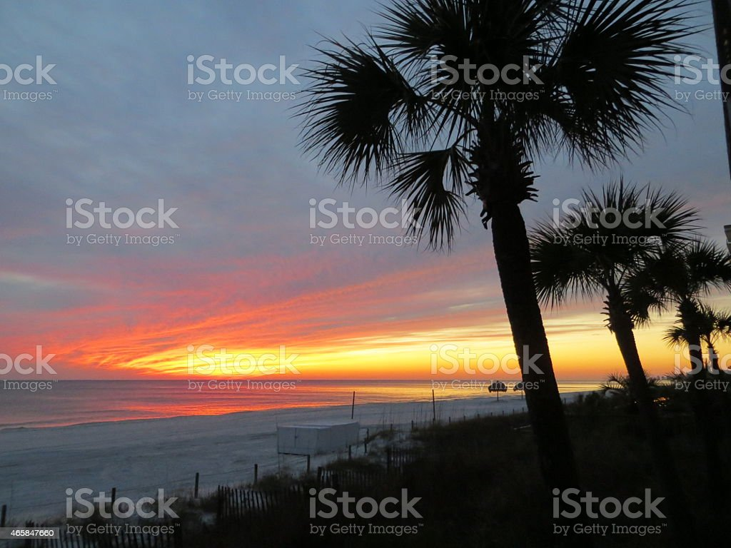 Sunset 12 Feb 27 2015 stock photo