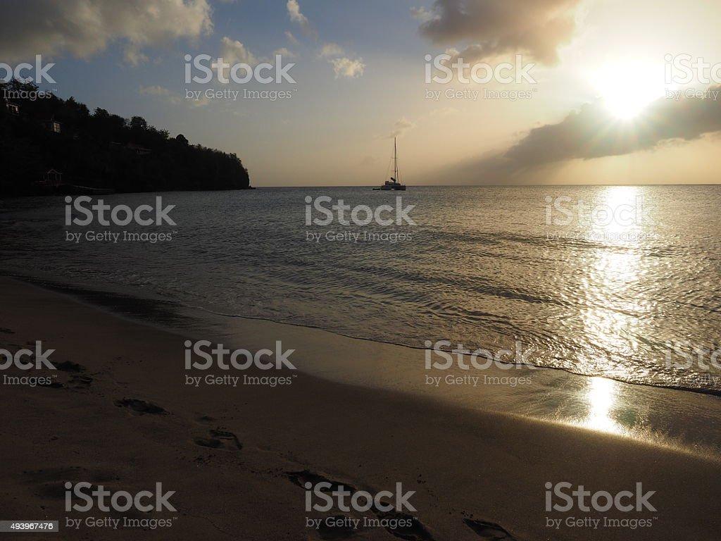 50 au coucher du soleil photo libre de droits