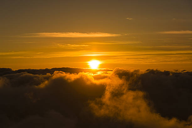 Sunset Above Clouds Haleakala National Park Maui Hawaii Usa Stock Photo Download Image Now Istock